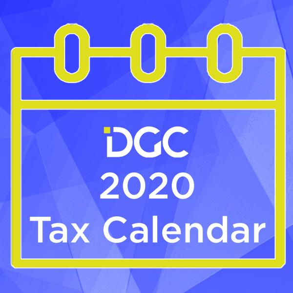 2020 TAX CALENDAR DGC 2